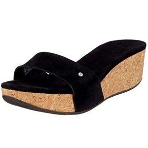 UGG Australia Black Suede 'Basil' Sandals #1768